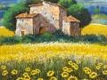 """Code N03 cm 50x35 """"girasoli in Toscana"""""""