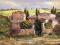 "Code N06 cm 35x50 "" Borgo nel senese"""