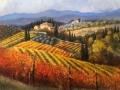 """Code FE04 cm 80x100 """"Vigne del Chianti in autunno"""""""