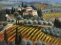 """Code FE07 cm 90x90 """" Paesaggio Toscano in autunno"""""""