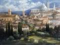 """Code FE15 cm 80x90 """"Veduta di Siena"""""""