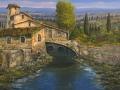 Code OR07 - cm 50x100 -  Casale sul fiume